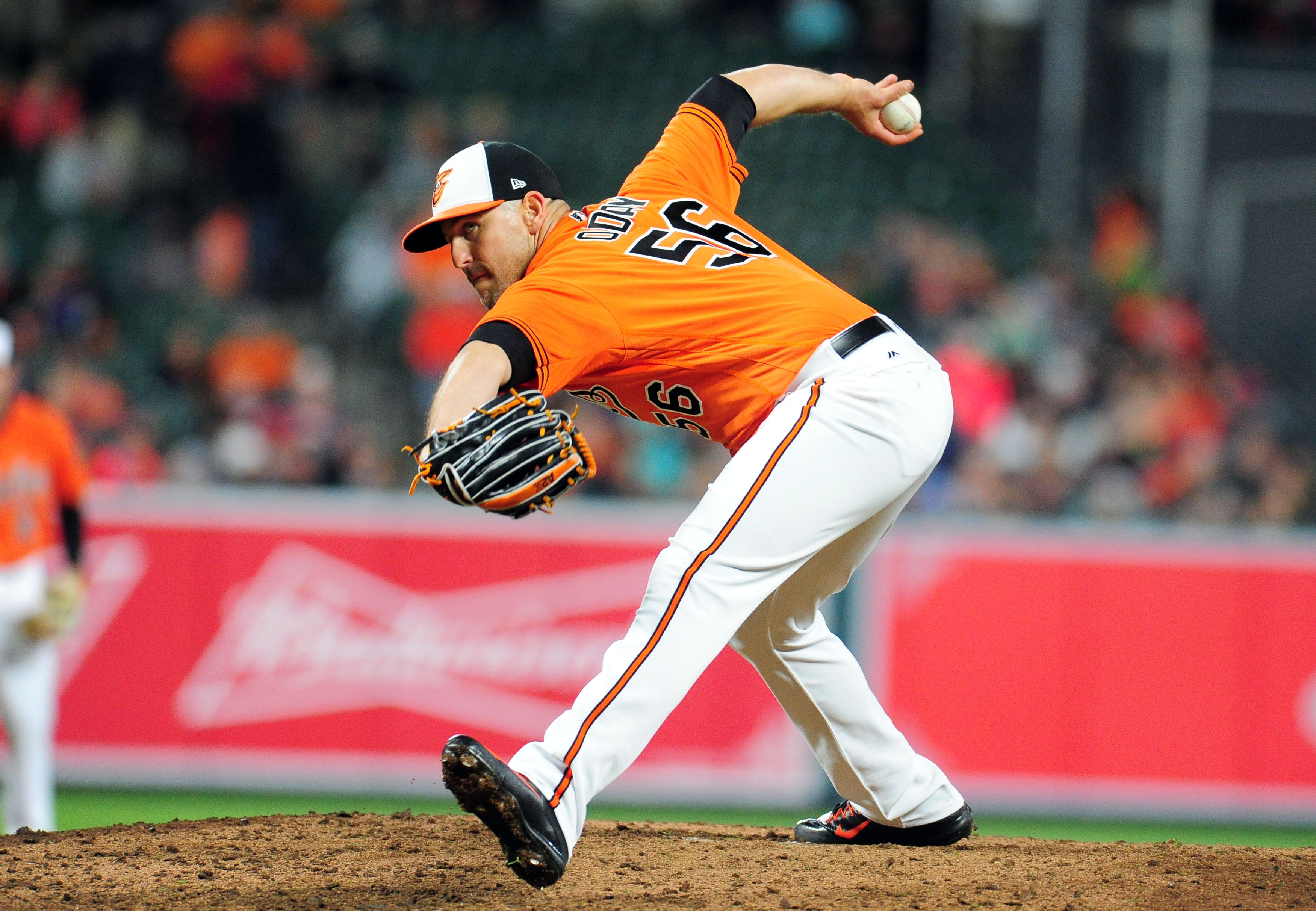 arrives 50855 49b5a ... Jerseys May 6, 2017 Baltimore, MD, USA Baltimore Orioles pitcher Darren  ODay (56 ...
